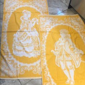 Set of two vintage towels